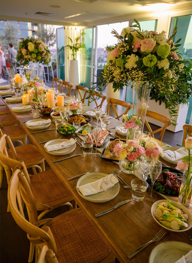 The point kangaroo point weddings venue dining placements